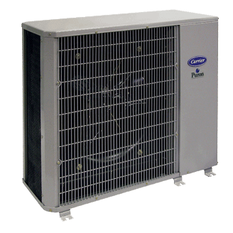 Carrier Performance 13 compact central air conditioner.